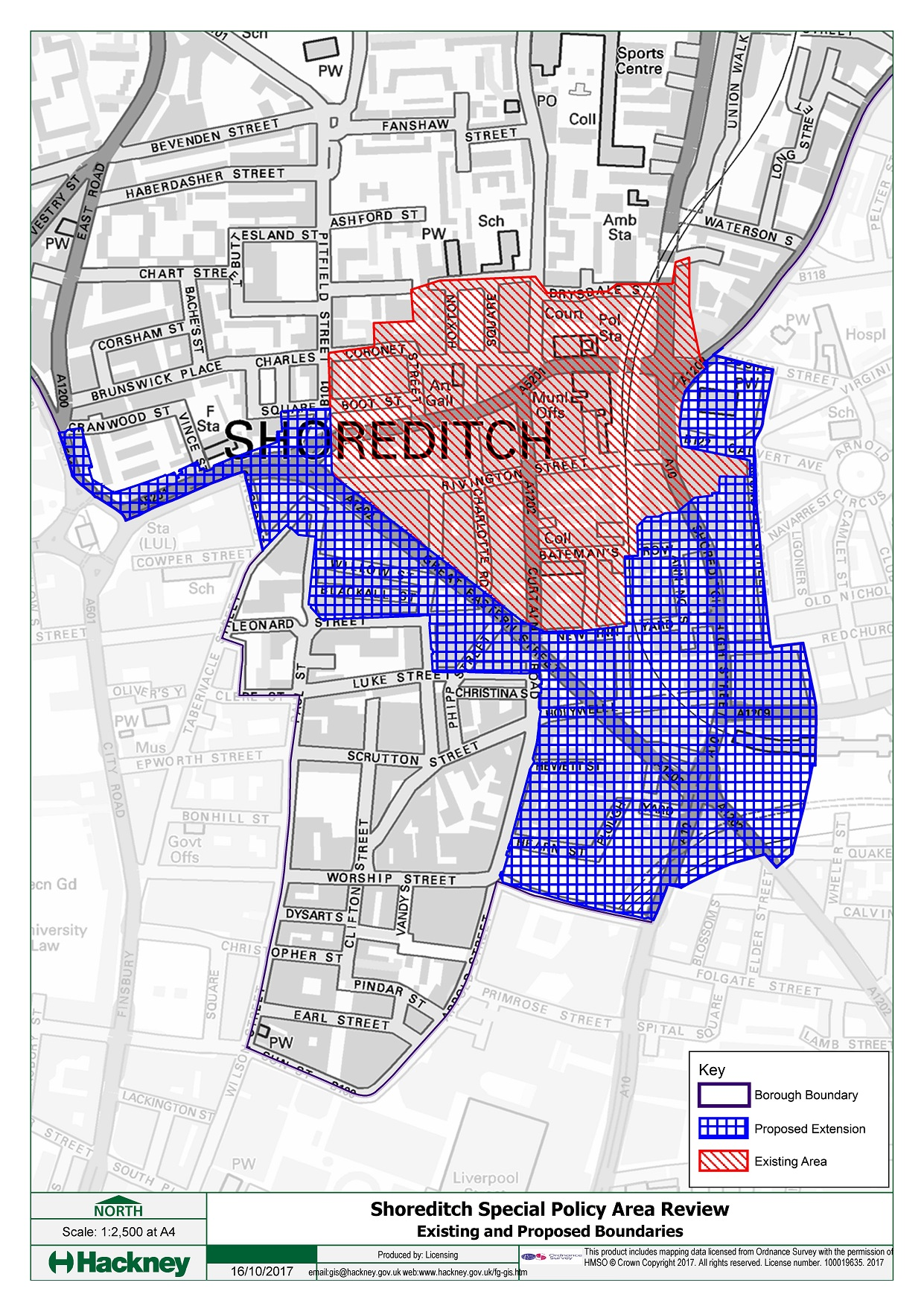 Shoreditch Map: Licensing Policy Consultation